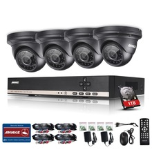ANNKE 960P CCTV System 1.3 MP Day Night IR 4 Cameras High Definition Video Surveillance 8CH AHD DVR CCTV System 1TB(China)