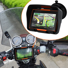 2017 New 4.3 Inch 8GB 256 RAM Waterproof Moto Bluetooth GPS Navigator for Motorcycle Motorbike+Free Maps