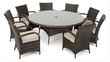 2017 Trade Assurance classic 8 seater rattan round dining sets outdoor garden furniture