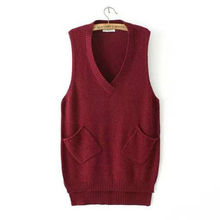 Women Sweaters And Pullovers 2017 Women's Sweater Vest Knit Hood In The Long V-Neck Sweater Coat NM56