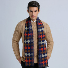 winter scarf luxury brand designer Plaid Cashmere Scarf men Oversized  Wrap long Wool Scarf Pashmina Shawls Scarves
