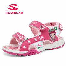 Buy HOBIBEAR Summer Beach Sandals Girls Children Soft Breathable Shoes Kids Quick Dry Beach Sandals Flower Princess Fashion Shoes 25 for $13.98 in AliExpress store