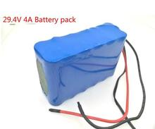 24V 4Ah 7S2P 18650 Battery li-ion battery 29.4v 4000mAh electric bicycle moped /electric/lithium ion battery pack+Free shipping