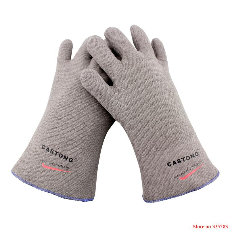 250 degrees heat insulation gloves High temperature resistant gloves to hot flame retardant anti-scald fire Aramid fiber woven<br><br>Aliexpress