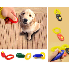 1pc New Pet Click Button clicker with wrist band for Clicker training aid guide-click and train dog, cat, horse, pets