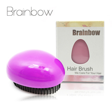 Brainbow 1pc Egg Design Magic Hair Brush Plastic Tangle Detangling Comb Head Scalp Massage Comb Salon Shower Hair Styling Tools(China)