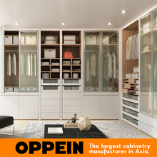 Modern style wardrobe Open Type Design L Shape Wardrobes Without Doors YG91555