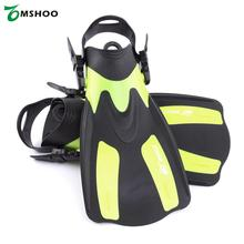 Adult Short Snorkeling Swim Fins Summer Swimming Fin Diving Fins Flippers with Adjustable Heel Water Sports 2 Sizes