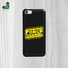 Hot Authentic the force will be Background style Plastic Phone Accessories Protective Cover For iPhone 5C And 4S 5S 6 6 Plus
