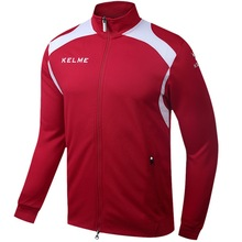 Kelme KMC160001 Men Long Sleeve Stand Collar Leisure Running Sport Training Football Knit Jacket Red(China)