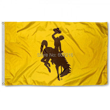 Wyoming Cowboys College Large Outdoor Flag 3ft x 5ft Football Hockey Baseball USA Flag(China)