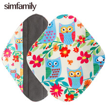 [simfamily] 1 Pc Panty Liner Reusable Waterproof Bamboo Charcoal Material Menstrual Cloth Sanitary Pads Soft And Healthy