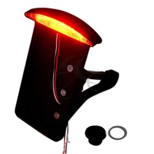 BLACK side mount license plate bracket tail light for HARLEY axle billet softail Honda Yamaha(China)