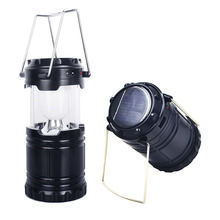 Ultra Bright Camping Lantern Solar Flashlight LED Portable Torch Light for Outdoor Recreation with USB Power Bank Charge Phones