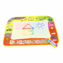 OCDAY 29*45.5cm Kids Write Draw Paint Water Canvas Mat Magic Doodle Mat Baby Play Mat With Magic Pen Painting Christmas Gifts