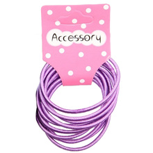 JEYL 2X New 100pcs Baby Girl Kids Tiny Hair Accessary Hair Bands Elastic Ties Purple(China)