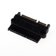 Black  SATA 22P 7+15 Pin Male Plug To SATA 22Pin 7+15 Female Jack Convertor Adapter Free Shipping