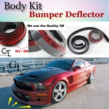 Bumper Lip Deflector Lips For Ford Mustang GT / CS Front Spoiler Skirt For TopGear Fans Car View Tuning / Body Kit / Strip