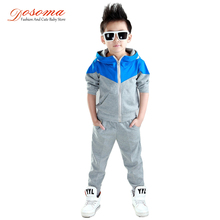 Dosoma Kids Clothes 2018 Baby Boy Spring Hooded Coats And Jackets Pants Set Korean Fashion Children Clothing Sports Suit For Boy(China)