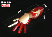 Man MK42 Mark42 XLII 4Wearable Blaster Gauntlet Arm Hand Cattoys MK42 Arm Right/ 1/1 LED Armor Hand For Iron