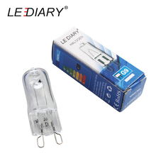 LEDIAR 20PCS Super Bright G9 Halogen Light Bulb 25w/40w/50w Halogen G9 110V/220V 2800K Warm White Indoor Clear Halogen G9 Lamp(China)