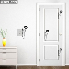 Three Ratels TZ-282 4.9*12cm wholesale 10 pieces/set hidden cat says hi light switch sticker decals car wall