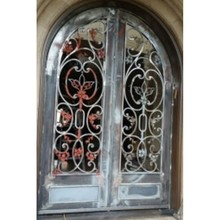 metal glass double entry doors luxury double entry doors arched double entry doors hc-ird21(China)