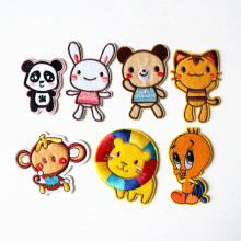 7Pcs Cartoon animals Iron On Patches Embroidery Biker Patch Clothes Logo Patches Apparel Sewing Applique