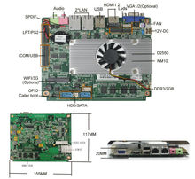 "2 lan motherboard OEM 3.5"" boards with intel atom dual core d2550 cpu Support 1080P Playing/24bit LVDS/6*COM/LPT/VGA(China)"