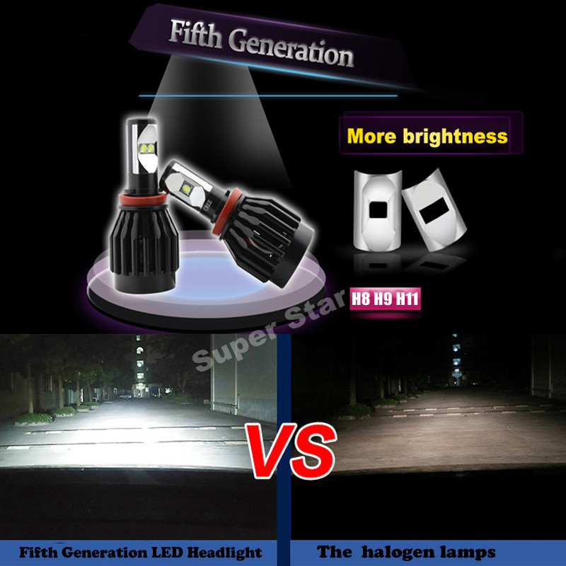 2XPlug&amp;Play Super Bright 80W 8000LM H8 H11 H9  6000K CREE Chips  Car LED Headlight Kit Conversion Fog Bulbs Replace HID<br><br>Aliexpress