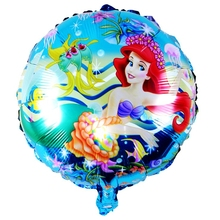 Cartoon Mermaid Princess Girl Foil Balloons Sea daughter child Birthday Party Wedding Decoration seabed Ocean animal Fish toys