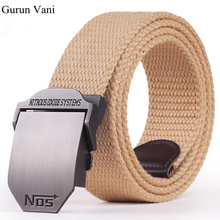"2017 New Arrival Men's Canvas Belt ""NO5"" Buckle Military Belt Army Tactical Belts for Male Top Quality Men Strap Free Shipping"
