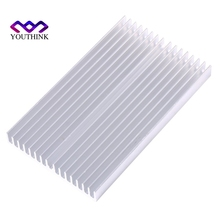 100*60*10mm DIY Cooler Aluminum Heatsink Grille Shape Radiator Heat Sink Chip for IC LED Power Transistor