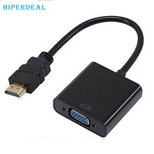 HIPERDEAL Advanced   HDMI to VGA SVGA RGB 1080p HDTV Video Adapter Cable Converter XBOX PC PS3  2017 Hot sales tablets 1PC