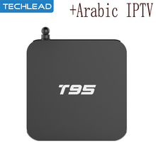 Android 6.0 T95 Smart Media Player with 1 Year Arabic IPTV Code Italy France Spain Germany UK US Dutch Europe Channel m3u Brasil(China)