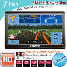 New 7 inch HD GPS Car Navigation 800MHZ FM/8GB/DDR3 2017 Maps For Russia/Belarus  Europe/USA+Canada TRUCK Satnav Camper Caravan