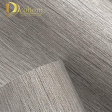 Modern Classic Solid Color Texture Wood Paper Straw 3d Wallpaper Living Room Embossed Decorative Wall paper Home Decor Grey