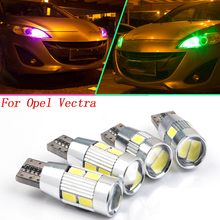 2pcs safe T10 W5W For Opel Vectra C Vivaro F3 Vivaro J7 LED Front Parking Light Front Side Marker Light Source Car Styling