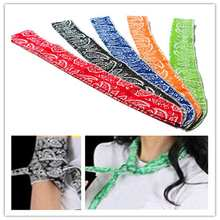 Free Shipping 5 Colors Refreshing Non-toxic Neck Cooler Scarf Body Ice Cool Cooling Wrap Tie Headband Bandana Wrist Towel(China)