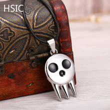 HSIC 10PCS/LOT HOT Soul Eater Metal Necklace the Kid's Collar Skull Logo Pendant Cosplay Accessories Jewelry Dropshipping(China)