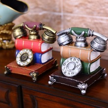Retro Telephone Creativity Model  Gifts  Resin Furniture Gifts  Home  Miniature  Craft Ornaments Bar Coffee Home Decoration