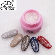 CHE GEL Snowflakes Nail Gel Long-lasting Soak off UV Gel Varnish LED Lacquer Nail Art for Christmas ZJY038