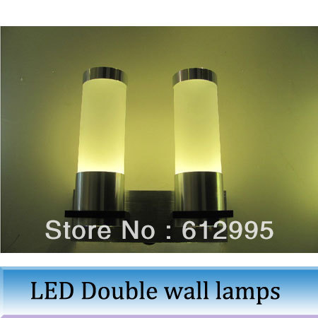1pc Fashion LED 6W double wall lamps /LED bedside wall lamp light/ /6W corridor lamp<br><br>Aliexpress