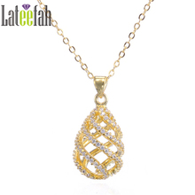 Buy Lateefah Luxury Cubic Zirconia Necklaces &Pendants Silver/Rose Gold Color Chain Fashion Jewelry Women Jewelry Accessories for $2.99 in AliExpress store