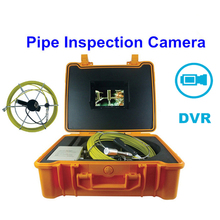 20M cable video sewer pipe inspection system with DVR video recording 12pcs LED light pipeline snake camera endoscope camera(China)