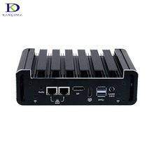 Newest Style N18 Fanless Mini PC with DP HDMI 2*COM 2*LAN Intel Dual Core i5 6200U windows 10 DDR4 Plam Nettop Computer i3 6100U(Hong Kong)