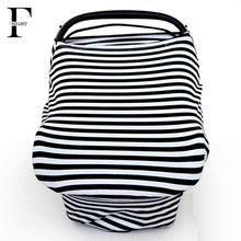 Stretchy Breastfeeding nursing cover baby stroller cart cover stripe car seat cover newborn toddler high chair cushion cotton(China)