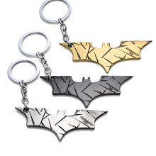 European and American Film Anime The Avengers Batman Alloy Keychain With Action Figure Pendant Keychain 3 Color For Choice(China)