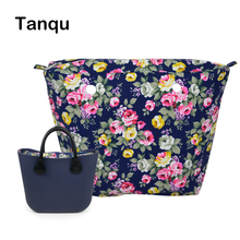 TANQU New Colorful Waterproof Inner Lining Insert Zipper Pocket for Classic Mini Obag Canvas  Inner Pocket for O Bag