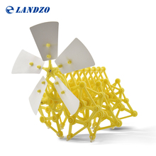 Landzo 2016 Hot Sale DIY Puzzle Wind Powered Walker Walking Strandbeest Assembly Powerful Model Toy Children Gift Drop Shipping